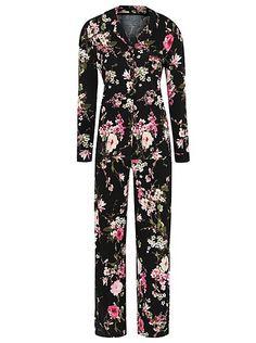 Black & Pink Floral Pyjamas | George at ASDA | £14