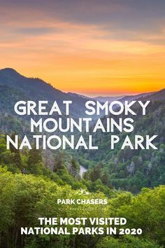 Millions of us enjoyed time in a national park in 2020. 237 million actually. Discover the list of the most visited national parks in 2020 - including Great Smoky Mountains National Park Smoky Mountain National Park, Joshua Tree National Park, Grand Teton National Park, Yellowstone National Park, National Park Passport, National Park Camping, Most Visited National Parks, Passport Stamps, Best Hikes