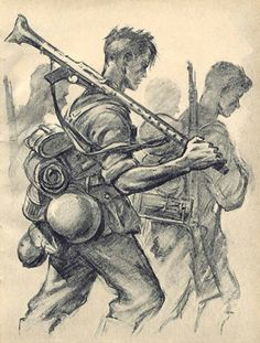 Soldier Drawing, Military Drawings, Samurai Art, Historical Art, Drawing Reference Poses, Art Graphique, Military Art, Dieselpunk, Art Day