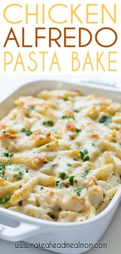 Check out this easy Baked Chicken Alfredo casserole! It's delicious penne pasta. Check out this easy Baked Chicken Alfredo casserole! It's delicious penne pasta and grilled chic Make Ahead Meals, Freezer Meals, Freezer Chicken, Make Ahead Casseroles, Recipe Make Ahead, Rotisserie Chicken, Freezer Dinner, Kid Meals, Pollo Alfredo