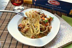 Deliciosa receta de Pasta con salsa de berenjenas de Disfrutando de la Cocina