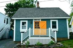 grey house with yellow door - Google Search