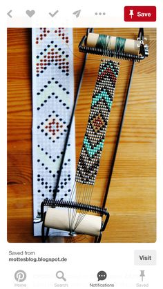 loom beading instructions & DIY Native American belt with classic Eagle motif Mais DIY instructions on how to make a unique, beaded native American belt with… Perle de Jemez Loom Bracelet b BEST tutorial I've seen outlining all the steps needed to use y Seed Bead Patterns, Jewelry Patterns, Bracelet Patterns, Native Beading Patterns, Weaving Patterns, Stitch Patterns, Native American Crafts, Native American Beadwork, Native Beadwork