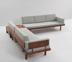 Living room set, in teak and fabric, Denmark, Well designed sofas from Danish manufacture. The frames are completely been made of solid teak. Due to the elegant slim legs and open expression from the backrests these sofas could fit any Diy Sofa, Sofa Furniture, Furniture Design, Wooden Furniture, Furniture Dolly, Furniture Stores, Antique Furniture, Furniture Buyers, Furniture Outlet