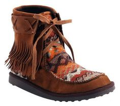 Thumbnail image of MUK LUKS Tanya Fringe Moccasin Ankle Boots