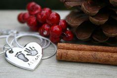 Silberketten - First Impressions Heart Necklace - ein Designerstück von Joulberry bei DaWanda