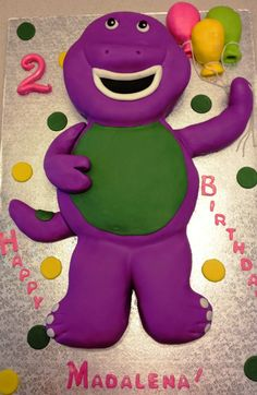 MaryMel Cakes: Barney birthday for Maddalena