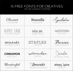 The Sunday Chapter: 15 Free Fonts For Bloggers And Creatives  ~~ {w/ links}