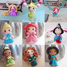disney princesses! Lookit teeny Mulan! So sweet <3