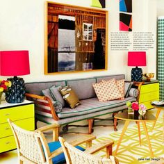 eclectic fashion   Eclectic Style living room from AD Spain