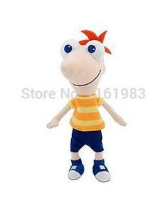 Phineas And Ferb Plush Toys Phineas Plush Mini Bean Bag Toy Talking Phineas Flynn Plush 40cm