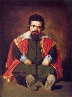 """Portrait of Sebastián de Morra"" circa 1645 by Diego Velázquez (Sevilla 1599-Madrid 1660). Oil on canvas. 106cm x 81cm. Museo del Prado."