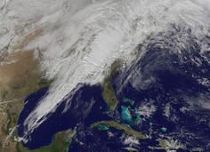 View from space: Severe weather in U.S. East on January 30