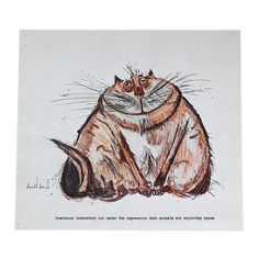 Ronald Searle Cat Print II