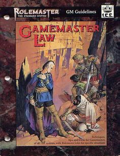 Product Line: Rolemaster  Product Edition: RMSS  Product Name: Gamemaster Law  Product Type: RPG Rules  Author: ICE, J. Hawkins, ...  Stock #: 5521  ISBN: 1-55806-217-3  Publisher: ICE  Cover Price: $20.00  Page Count: 176  Format: Softcover  Release Date: 1995  Language: English