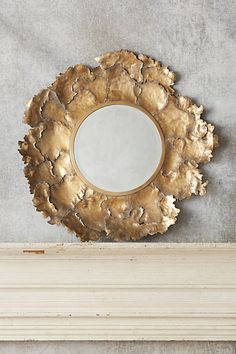 Autumn Leaf Mirror by Anthropologie in Brown, Wall Decor Unique Mirrors, Vintage Mirrors, Decorative Mirrors, Brass Mirror, Mirror Wall Art, Mirror Mirror, Entryway Mirror, Sunburst Mirror, Estilo Interior