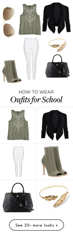 """""""School is out for today"""" by sarahfohlen on Polyvore featuring Gianvito Rossi, Topshop, Aéropostale, Ray-Ban, Tory Burch, Spring, sunny, noschool and 2k16"""