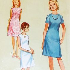 Lace Dresses are on Trend right now!  60s Sewing Pattern A line Shift Dress. Simple by sewinghappyplace, $6.00