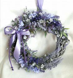 Dried Flower Wreaths, Dried Flowers, Purple Wreath, Floral Wreath, Summer Wreath, Hanukkah, Easter, Spring, Holiday
