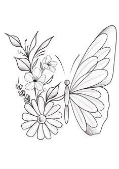 Cute Tattoos, Body Art Tattoos, Small Tattoos, Sleeve Tattoos, Tatoos, Tatto Floral, Herren Hand Tattoos, Art Sketches, Art Drawings