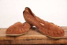 42.74$  Buy here - http://vixbg.justgood.pw/vig/item.php?t=hzwg7112711 - Juil Women's BUMI Brown Suede Slip on Moccasins Loafers Sz 11 EU 41
