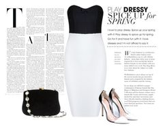 """Simple Black n White Outfit"" by sherry-mb ❤ liked on Polyvore featuring Gianvito Rossi and Serpui"