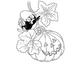 coloring page Halloween - Calimero