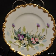 HISTORY/MARKS: The Pouyat family was one of the oldest French names associated with the porcelain in the Limoges region dating all the way back to the 1700's. The now famous JPL backstamps were used beginning in 1851 and the specific one that is on these plates is called mark #5 by Mary Frank Gaston in. | eBay!
