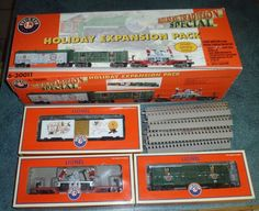LIONEL HOLIDAY EXPANSION PACK 6-30011 RARE TRAIN COLLECTIBLE - FAST SHIPPING!  #LIONEL Train Sets For Sale, Standard Gauge, Layout, Models, Classic Toys, Model Trains, Holiday, Ebay, Solomon