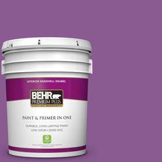 BEHR Premium Plus 5 gal. #P100-6 Chakra Zero VOC Eggshell Enamel Interior Paint