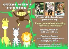 Jungle Theme Birthday Invitation Card Online
