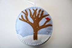 Felt Christmas Ornament - First Snow