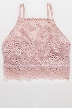 Aerie Hi-Neck Boho Bralette. This would be so cute under some overalls!