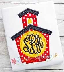 Monogram School House Applique - 4 Sizes!   What's New   Machine Embroidery Designs   SWAKembroidery.com Creative Appliques
