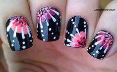 For Beginners In Todays Nail Art Video I Make An Easy Flower Design Using Toothpick First Of All Apply Base Coat To Prot