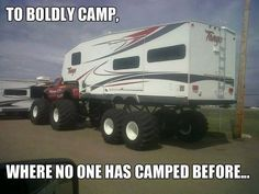 Redneck Camping by mwormington - A Member of the Internet's Largest Humor Community Trailer Plans, Car Trailer, Camper Trailers, Camper Hacks, Camper Ideas, Off Road Camping, Camping Packing, Tent Camping, Driving Humor