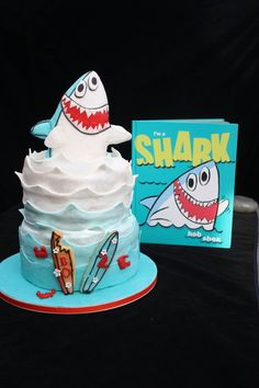 Shark Cake  Cake by TeresaCakes Such great execution of the book cover!