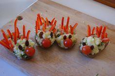 kiddies food idea - stuffed potatoes with peppers