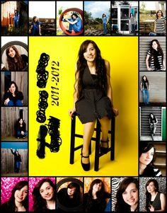 senior picture collage