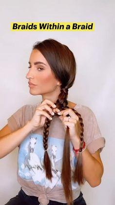 Easy Hairstyles For Long Hair, Braids For Long Hair, Pretty Hairstyles, Hair Up Styles, Aesthetic Hair, Camila, Hair Today, Hair Videos, Hairdos