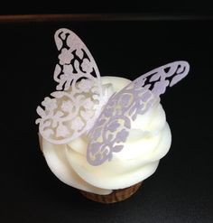 20 Edible Wafer Paper Butterfly Cupcake Toppers by Silvermisted