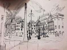 Lima Peru handmade drawing by me 2013. Suzanna Paulla Bomfim