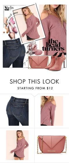 """SHEIN Pink Knit Top"" by wanda-india-acosta on Polyvore featuring J Brand, Paul & Joe and Roland Mouret"
