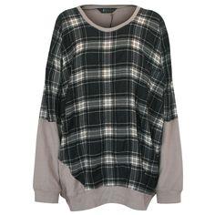ZERO + MARIA CORNEJO layered tartan plaid oversized sweatshirt sweater jumper XL #ZeroMariaCornejo #Oversize