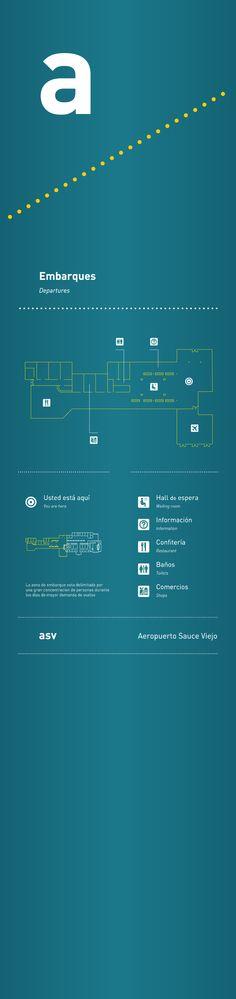 Cliente: Trabajo FADU Trabajo: diseño de señalética Aeropuerto Sauce Viejo