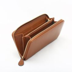 Leather Zip Wallet for Woman  All Around Zip Wallet  by NorthAzure