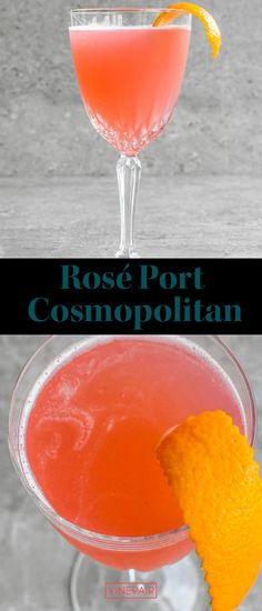 Rosé #port adds great depth and flavor to cocktails without the sweetness that usually accompanies it. By taking out the vodka and triple sec and replacing both with the #rosé port, the #Cosmopolitan stays #balanced and quaffable and is incredibly #easy to make. Wine Cocktails, Summer Cocktails, Cocktail Recipes, Alcoholic Drinks, Alcohol Drink Recipes, Triple Sec, Us Foods, Cosmopolitan, Vodka