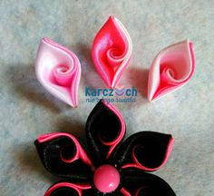 Kanzashi #21 - Curved petal (Easy way)