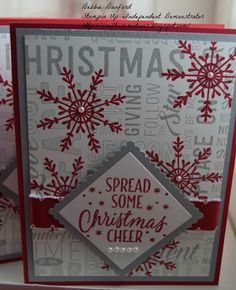 Stampin UP - Greetings From Santa, Merry Medley, Tin of Tags Box of Cards @ craftiercreation.blogspot.com