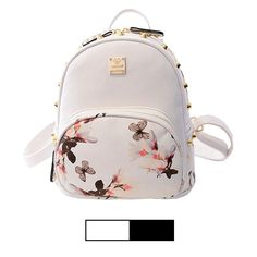 cb296c134 Mini Backpack for Girls Designer Rivet PU Leather Travel Bags Womens Casual  Fashion College School Sport Daypack Outdoor Accessories Ruchsack Pack  Floral ...